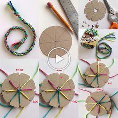 Bracelet Patterns, Washer Necklace, Diy Jewelry, Bracelet, Diy Jewelry Making Diy Friendship Bracelets Tutorial, Diy Bracelets Easy, Bracelet Crafts, Friendship Bracelet Patterns, Bracelet Tutorial, Jewelry Crafts, Easy Fall Crafts, Diy Crafts To Sell, Crafts For Kids