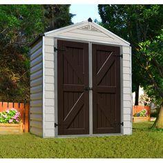 Palram SkyLight™ Storage Shed - 6' x 3' Tan