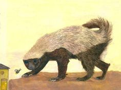 A Honey Badger Illustration. This Honey by LydiasWildlifeArt