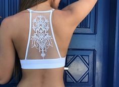 Beautiful Mesh Back. Adjustable straps Wear it underneath loose-fitting shirts, or even as a yoga top. Made with lightweight knit material that has a good stretch. Jolie Lingerie, Lingerie Outfits, Lingerie Dress, Pretty Lingerie, Sheer Lingerie, Lingerie Set, White Bralette, Padded Bralette, Body Suit Outfits