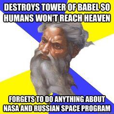 Reason #1209381209830198 why the Old Testament isn't true. Atheism, atheist, god meme, atheist lols