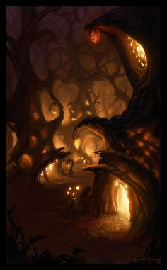 Tangle Forest Dwellings by jermilex.deviantart.com