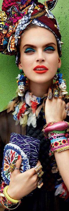 Frida Kahlo inspiration for fashion editorial