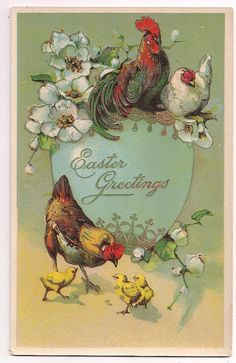 Antique Easter Greetings dated 1913