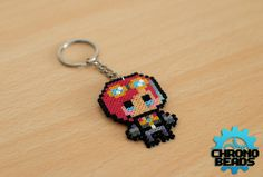 Vi - League of Legends - LoL - Keychain - customizable Hama Beads Kawaii, Diy Perler Beads, Pearler Beads, Pixel Art, Hamma Beads Ideas, Finding A Hobby, Pearler Bead Patterns, Beaded Cross Stitch, Fuse Beads