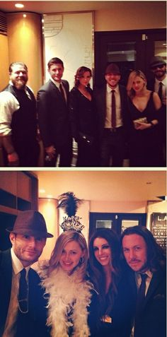 Jensen, Danneel, Steve Carlson, wife Lana--New Year's Eve 2013