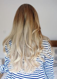 ombre.  Anna Saccone: Back to Blonde!
