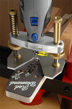How to organize a seamless work flow in a wood shop >>> Check this useful article by going to the link at the image. Woodworking Power Tools, Woodworking Jigs, Woodworking Projects, Wood Tools, Diy Tools, Dremel Wood Carving, Making Musical Instruments, Machinist Tools, Dremel Accessories
