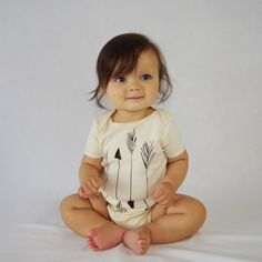 Arrows Organic Baby Bodysuit in Natural by eleventyfive on Etsy, $23.00