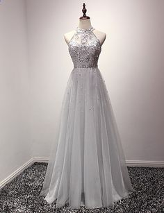 Cocktail Party / Formal Evening Dress A-line Jewel Floor-length Organza with Crystal Detailing 5091873 2016 – $129.99