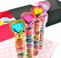 Jeweled Heart 5-Design Stamp