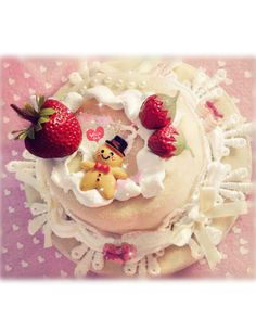 Sweet Strawberry Cake Lolita Headdress White