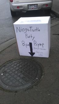 Ninja Turtle Party 8 p. BYOP (bring your own pizza ) See you later Funny Cute, The Funny, Hilarious, Ninja Turtle Party, Ninja Turtles, Turtle Birthday, Just For Laughs, Funny Photos, Laugh Out Loud