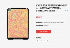 CASE FOR APPLE IPAD MINI 4 - ABSTRACT PASTEL SWIRL PATTERN #grabyourdesign #design #ipadminicase #apple #pattern #swirl #pastel #abstract