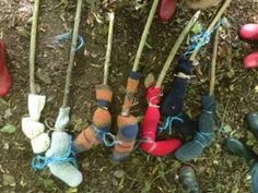 Have you ever wondered what to do with your collection of odd socks? On a recent Forest School session at Little Explorers they had a great idea!!
