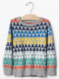 Geometric fair isle sweater Product Image
