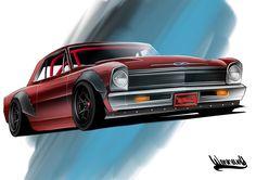 Nova Rendering Pro Touring Rocket Bunny Rotiform Drawing Andreas Hoås Wennevold