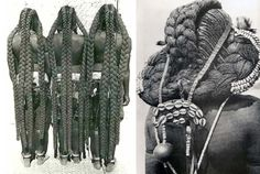 The Braided Rapunzels of Namibia: Every Stage of Life is Reflected in Their Hair  The eembuvi-plaits of Mbalantu women. Photo: CHL Hahn, Collection Antje Otto