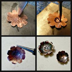 Art Jewelry Elements: Saturday Share: Spring Flowers Eye Candy and Tutorial … - Dıy Jewelry Metal Ideen Enamel Jewelry, Copper Jewelry, Wire Jewelry, Jewelry Art, Jewelry Design, Gold Jewellery, Fashion Jewelry, Bullet Jewelry, Geek Jewelry