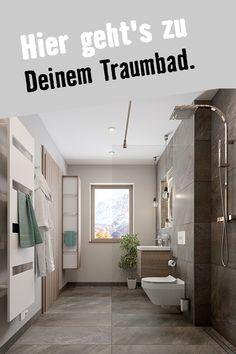 Zeitlos und modern. So kann Dein Traumbad aussehen. Sieh Dir das Wallis- Duschbad an. Wallis, Alcove, Bathtub, Bathroom, Guest Toilet, Flooring Tiles, Floor Layout, Remodels, Shopping
