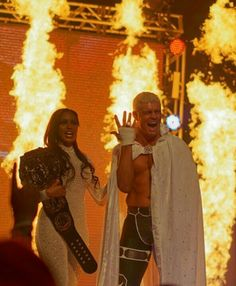 The American Nightmare Cody Rhodes with his wife Brandi Rhodes Wrestling Superstars, Wrestling Wwe, Cody Rhodes, Wwe Couples, Professional Wrestling, Ufc, Beautiful Men, Champion, Adorable Couples