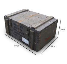 Vintage Soviet Wooden Ammo Box 60 x 40 x 30cm