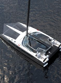 View our gallery of Interior and Exterior views. Underwater viewing lounge, wind turbines, galley, and advanced features. Yacht Design, Catamaran Design, Sailing Catamaran, Yacht Boat, Boat Design, House Yacht, Float Your Boat, Best Boats, Super Yachts