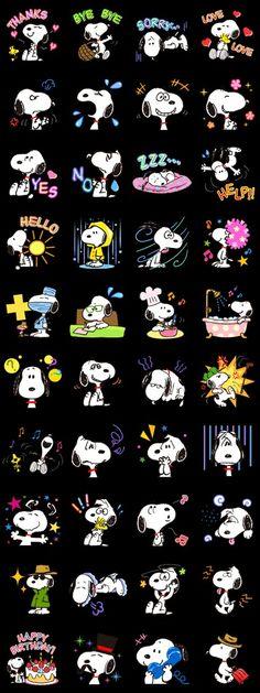 LINE app Snoopy stickers