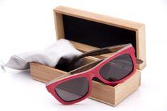 Bambus Sonnenbrille, Red Skater