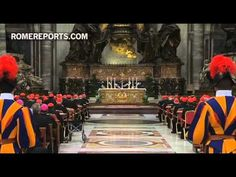 Cardinals pray in St. Peters Basilica as they prepare for the Conclave