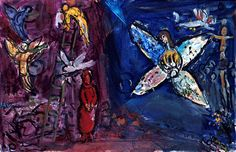 Marc Chagall, Jacob's Dream, 1966, Nice, Musée National Message Biblique Marc Chagall