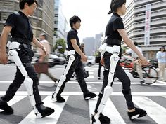 Robotic legs designed to help disabled people walk, 2009. Not only for severely limited mobility issues but for those people with pain which causes walking to be exceedingly difficult too.