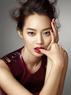 More Of Oh So Glamorous Shin Min Ah In Allure Korea's August 2013 Issue : Couch Kimchi