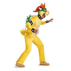 Super Mario Bros Bowser Deluxe Adult Costume