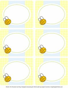 This really cute printable Bumble Bee baby shower set designed by Angela of Anythingbutperfect.com is FREE to download. This is theBLUE set, see the Baby Shower Labels in PINK set for girls. Printables are in fillable / editable PDF templates for easy customizing and printing on you laser and inkjets.To ...