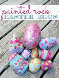 Painted Rock Easter Eggs