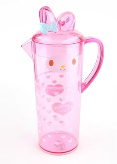 #MyMelody Plastic Pitcher looks so pretty wherever she goes