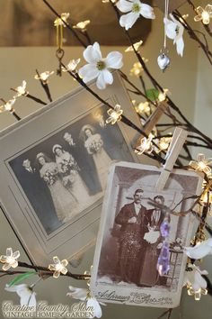 Creative Country Mom's Vintage Home and Garden: A Family Tree - Using Vintage Photographs in Decor