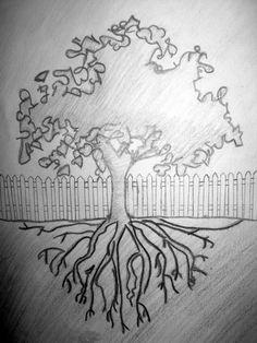 Drawing of tree | Visual art