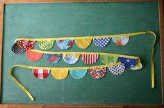 Colorful Scalloped Flag Garland