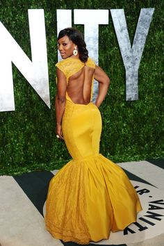 beautiful gown by Christiane King worn by Serena Williams at the Vanity Fair party.