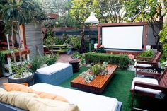 15 Chic Celebrity Backyards You'll Want to Copy via Brit + Co.