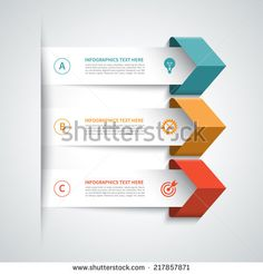 Modern arrow infographics elements. Origami style. Vector illustration. Can be used for workflow layout, diagram, number and step up options, web design.