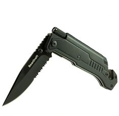 BearCraft Folding Knife | Outdoor Survival Pocket-Knife with LED Flashlight | Rescue Knife with Assisted Opening Firestarter Glassbreaker and Beltcutter. For product & price info go to:  https://all4hiking.com/products/bearcraft-folding-knife-outdoor-survival-pocket-knife-with-led-flashlight-rescue-knife-with-assisted-opening-firestarter-glassbreaker-and-beltcutter/