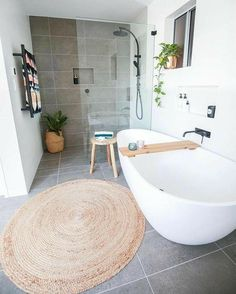 Salle de bains / Salle de douche / Bathroom / Shower 28 Master Bathroom Ideas to., Salle de bains / Salle de douche / Bathroom / Shower 28 Master Bathroom Ideas to Find Peace and Relaxation Diy Bathroom Decor, Bathroom Rugs, Bathroom Interior, Bathroom Lighting, Bathroom Ideas, Bathroom Organization, Simple Bathroom, Shower Ideas, Bathroom Designs