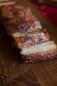 This Crispy Pork Belly is marinated in Asian flavors, then roasted with a salt crust for crispy skin and tender meat. No scoring required! Grilled Pork Belly Recipe, Fried Pork Belly, Pork Belly Recipe Oven, Salt Pork, Crispy Pork, Marinated Pork, How To Cook Pork, Bbq Pork, Pulled Pork
