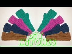 Aprende a tejer unos mitones fáciles,sencillos y rápidos en dos agujas - YouTube Crochet Mittens, Fingerless Mittens, Knitted Hats, Knit Crochet, Knitting Videos, Loom Knitting, Arm Warmers, Sewing, Youtube