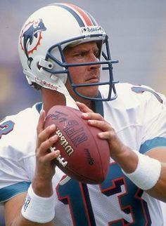 Dan Marino - former American football quarterback who played for the Miami Dolphins of the National Football League (NFL). The last quarterback of the Quarterback Class of 1983 to be taken in the first round, Marino became one of the most prolific quarterbacks in league history, holding or having held almost every major NFL passing record