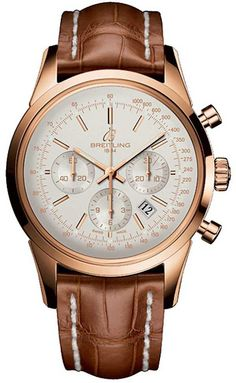 Breitling  Watch Transocean Chronograp case depth 14-35mm pink rose gold  case width 43mm  model no rb015212-g738-373p