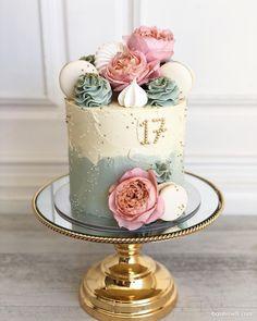 Pretty Cakes, Beautiful Cakes, Amazing Cakes, Girly Cakes, Big Cakes, Spring Cake, Summer Cakes, Buttercream Decorating, Cake Decorating Tips